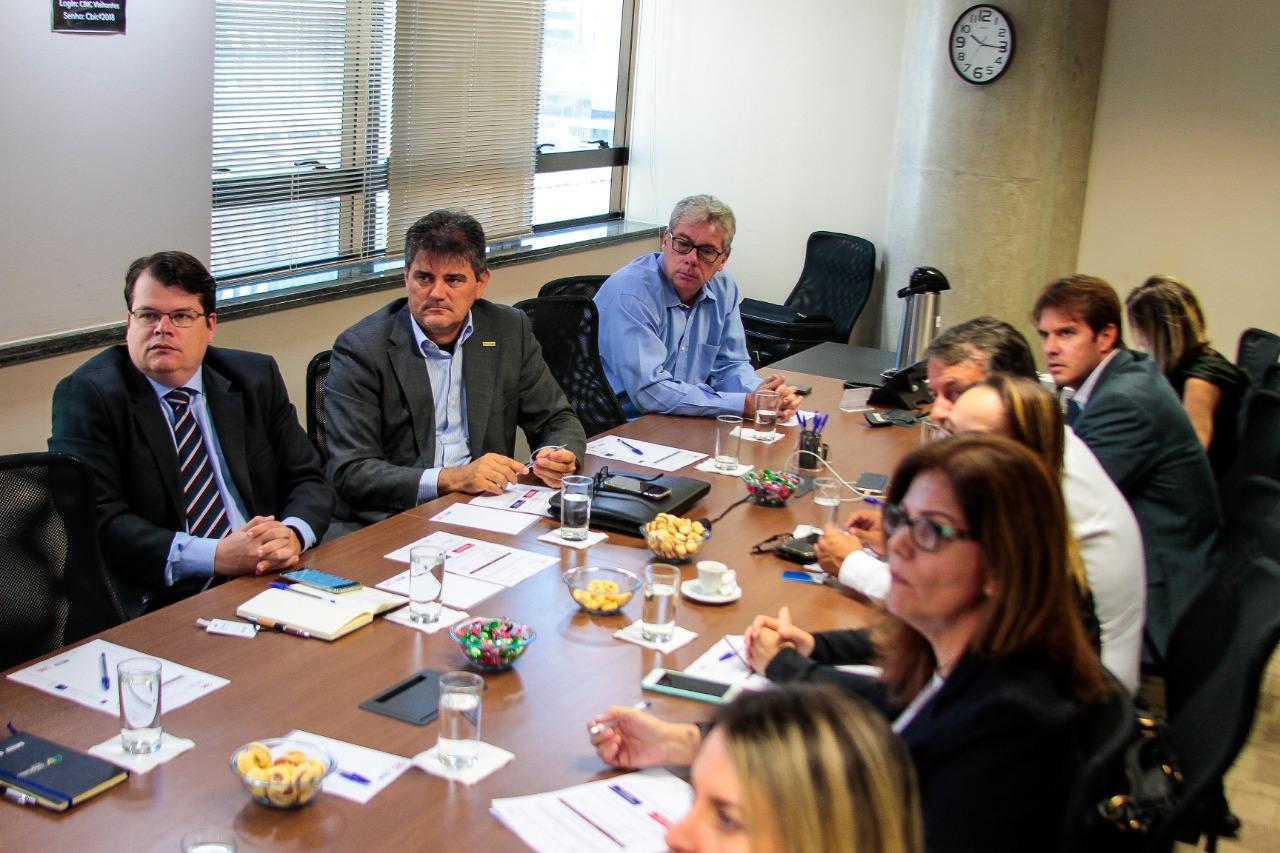 Membros da CPRT/CBIC, durante reunião em Brasília (Foto: PH Freitas)